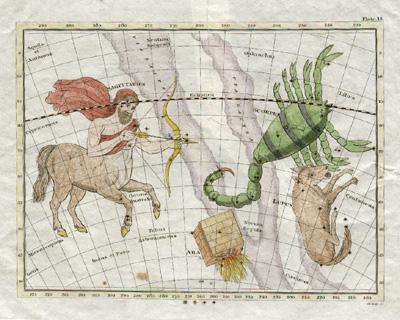 Plate 13: Scorpio, Sagittarius, Lupus, Ara