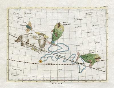 Plate 9: Piscis Borealis, Piscis Australis, Aries, Musca