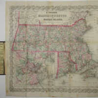 Pocket Map of Massachusetts and Rhode Island