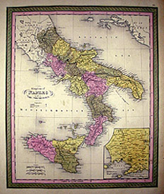 Map of Kingdom of Naples or Two Sicilies