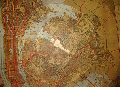 Wall Map, New York World's Fair 1939 and Metropolitan Area