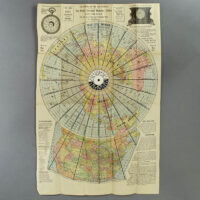 Isaac F. Pheils Map of the World with U. S. Supplement [Map Clock]