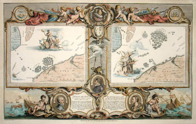 Map of Part of Kent, English Channel, Part of Picardie, Plates IX & X (Sold)