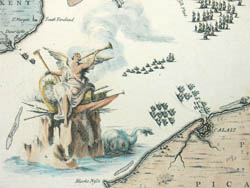 Detail of Map of Part of Kent, English Channel, Part of Picardie, Plates IX & X