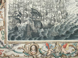 Detail of Spanish Armada Battle View, Plate IX
