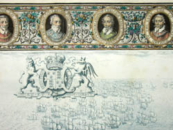 Detail of Spanish Armada Battle View, Plate X