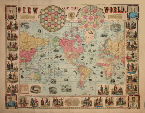 World Map, Pictorial View of the World