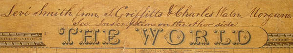 Top border with map title and handwritten inscription.