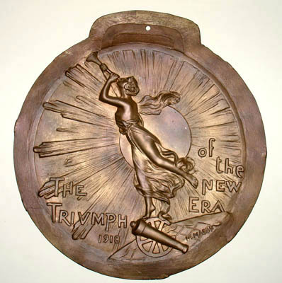 Relief Plaque, WWI, Triumph of the New Era 1918