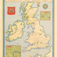 Pictorial Map, Booklovers' Map of the British Isles