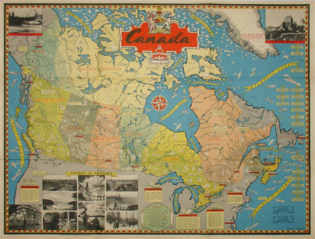 Map, Canada, Pictorial, Canadian Pacific Railway, Vintage ... on tahiti map pacific, garbage island pacific, war in pacific, world war ii pacific, world map pacific, silestone pacific,