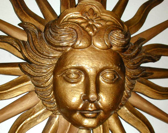 Relief Plaque, Louis XIV Sun Face