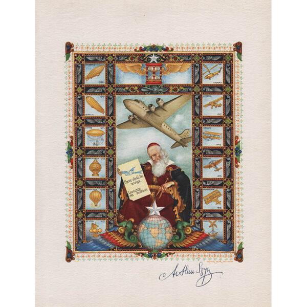 Szyk, Title Page Airmails of the World, Da Vinci Portrait
