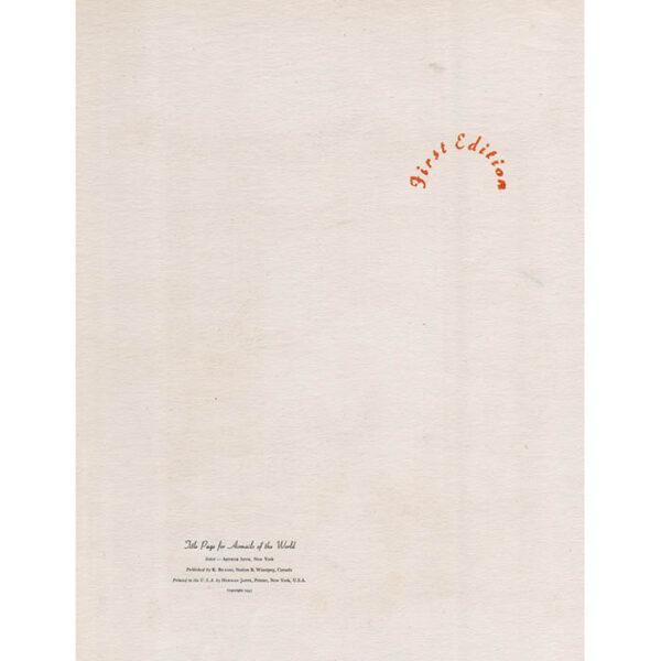 Szyk, Title Page Airmails of the World, Da Vinci Portrait, verso