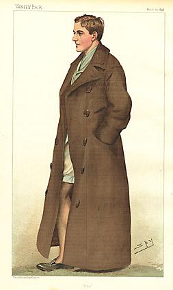 """Leslie """"Spy"""" Ward Fitz [W. Fitzherbert, Track Star] 1896"""