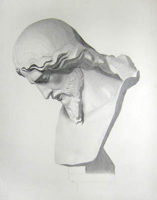 Academic Study of a Sculptural Bust
