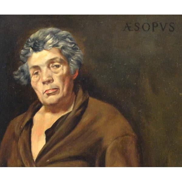Aesopus [Aesop] after Velazquez, detail