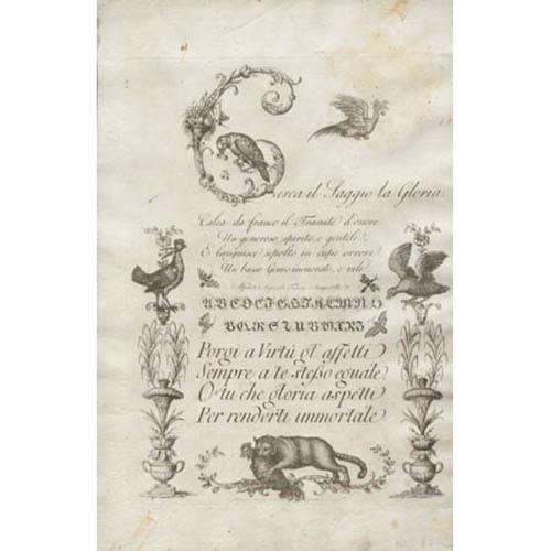 Cerca il Saggio la Gloria (Florentine calligraphy)