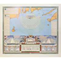 Pictorial Map, Chart of the America's Cup, 1934