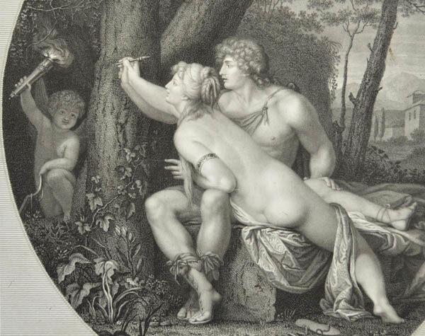 Angelica e Medoro, detail