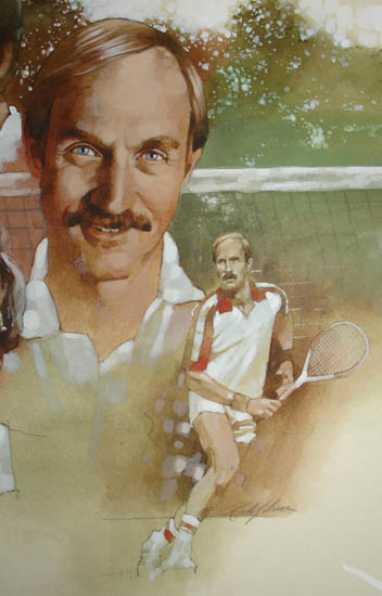 Original illustration for Tennis Our Way