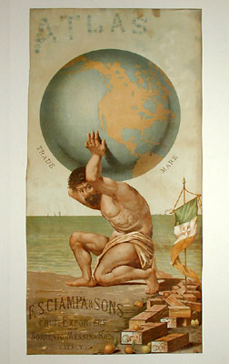Atlas Advertisement Print