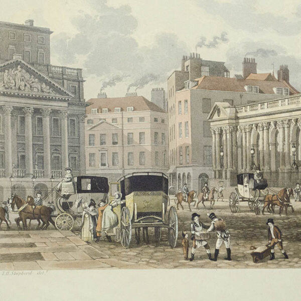 A View of the Bank of England, detail