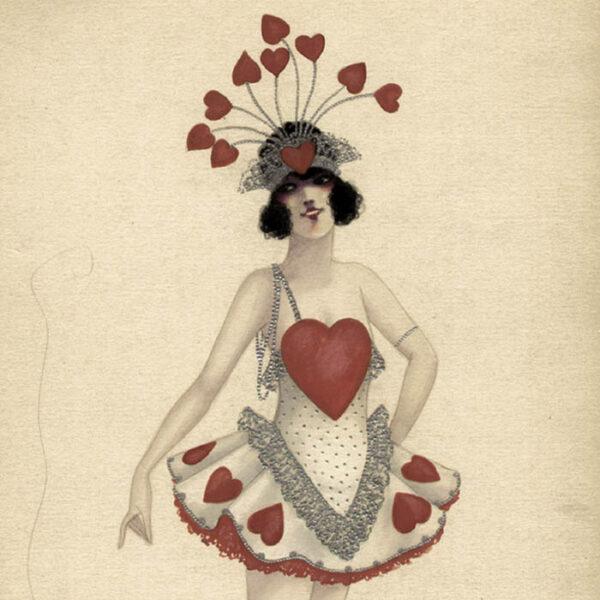 Queen of Hearts costume, detail