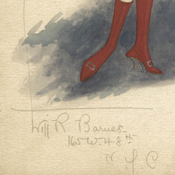 Queen of Hearts costume, signature