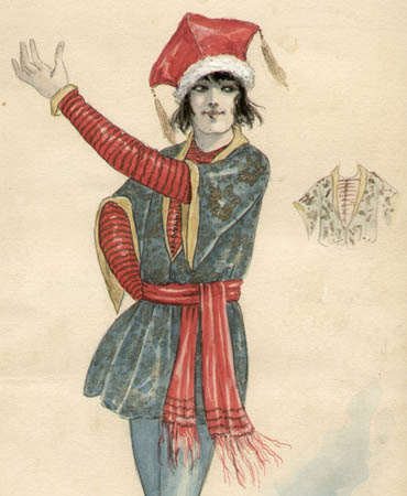 Russian Gypsy Man costume design, detail