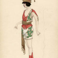 Russian Gypsy Woman costume design