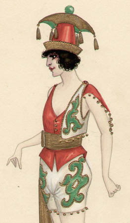 Russian Gypsy Woman costume design, detail