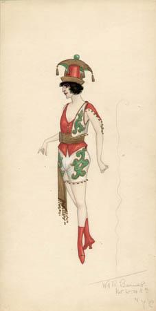 Russian Gypsy Woman costume design