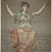 Pastel Drawing of an Allegorical Female Figure