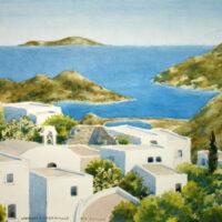 Patmos, Greece Watercolors