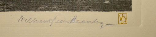 Signature in pencil