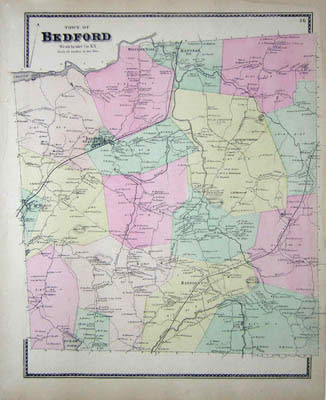 Map of Bedford, New York