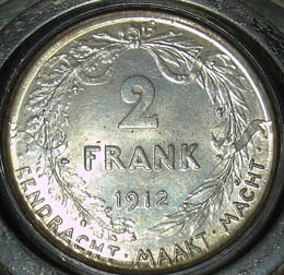 Detail of 2-Frank Coin