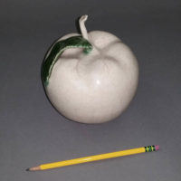 Ceramic Apple by Paul Bellardo