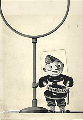 Bell Telephone System Mascot as Soldier