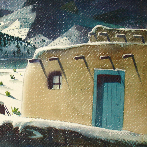 Southwest Landscape in Winter, detail