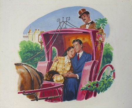 Myrna Loy and Donald Woods in Carriage