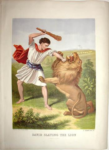 David Slaying the Lion (I Samuel)
