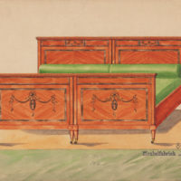 Design for Biedermeier Style Twin Beds
