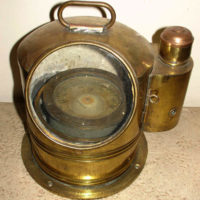 Maritime, Brass Binnacle, Ship's Compass