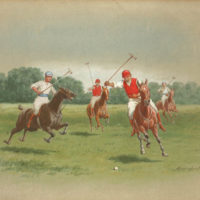 Polo Match — Original Watercolor