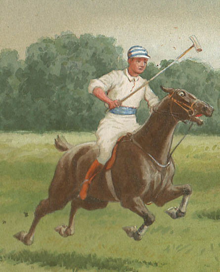 Polo Match — Original Watercolor
