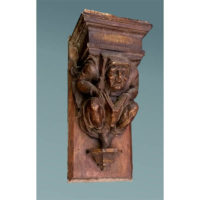 Library Corbel, Book Reader, Gothic Revival
