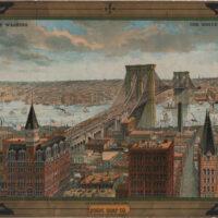 Advertising View, Great East River Suspension Bridge