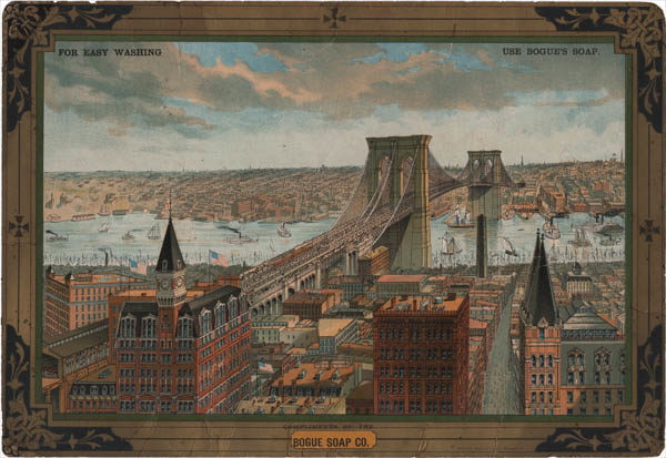 Advertising View, Great East River Suspension Bridge